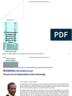 The process of implementing control technology - EE Publishers