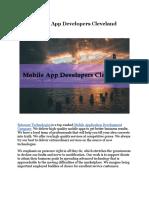 Mobile App Developers Cleveland