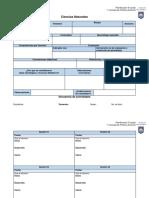 Ciencias Naturales formato planificación