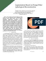 Final (ICCEREC 2017) Retinal Vessel Segmentation Based on Frangi Filter and Morphological Reconstruction