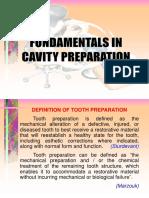 Fundamentals in cavity prepration