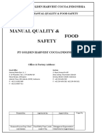Manual Quality & Food Safety Based on ISO 22k 2018