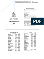 UP Police Telephone Directory