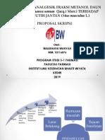 Uji Aktivitas Analgesik Fraksi Metanol Daun Trembesi (