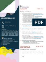 Sample 1 pager CV Telecom