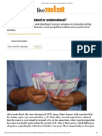 Is the rupee overvalued or undervalued_ - Livemint.pdf