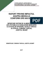 1-Raport La Studiu de EvaluarePrimaria Tarcau