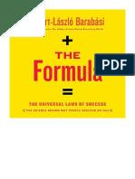[2018] The Formula by Albert-László Barabási   The Universal Laws of Success   Hachette Audio