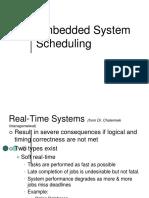 Embedded System Scheduling