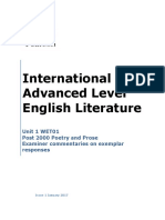Exemplars Ias Unit 1 Post 2000 Poetry and Prose