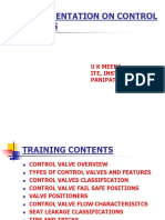 A Presentation on Control Valves