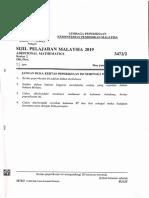 SPM Add Maths 2019 P2