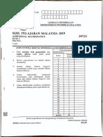 SPM Add Maths 2019 P1