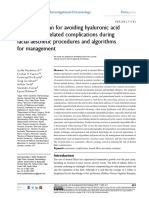 A 10-point plan for avoiding hyaluronic acid dermal filler-related complications during facial aesthetic procedures and algorithms for management