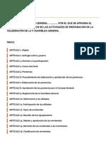 Propuesta de reglamento para la V Asamblea General de Ciudadanos
