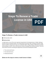 Steps to Renew a Trade License in UAE