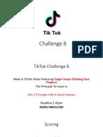 tiktok challenge 8 speec communication