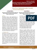 Photo Voltaic Systems Power Optimization under Cascaded Inverter Environment