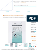 AmniCheck At Home Water Break Detection Test for Amniotic Fluid Pregnancy - FDA registered, Fast and 99% Accurate - Includes 3 tests - Pharmapacks