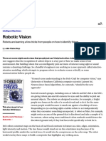 Robotic Vision - MIT Technology Review