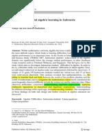 Difficulties in Initial Algebra Learning in Indonesia (Al Jupri, et al., 2014)