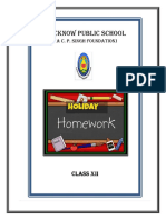 HOME ASSIGNMENT CLASS XII INDEX