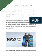 Voopoo Navi Mod Pod Review - Better than Vinci X?