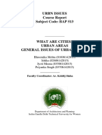 Cities, Urban Areas, Urban Issues