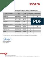 Holiday List_Faridabad HO_2019