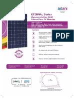 Mono Crystalline PERC Silicon Solar PV Modules - 60
