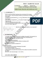 Série d'exercices N°7 Lycée pilote - Physique MOUVEMENT RECTILIGNE - 3ème Sciences exp (2015-2016) Mr MABROUKI SALAH.pdf