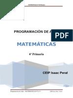Programacion Aula Matematicas 6