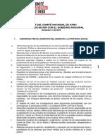 Agenda comité nacional de paro
