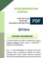 COMPOSTOS BIOATIVOS EM ESTÉTICA (1)