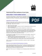 CIRIA Advice Sheet 7 - Resilient Services