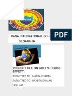 greenhouse effect - Project word ankita