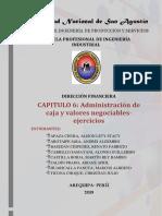 administracion de caja y valores negociables- ejercicios