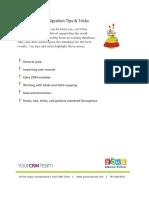zoho implementation sheet