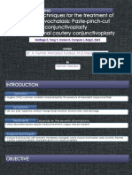 Surgical techniques for the treatment of conjunctivochalasis paste-pinch-cut conjunctivoplasty versus thermal cautery conjunctivoplasty