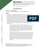 Risk Perception and Health Behavior