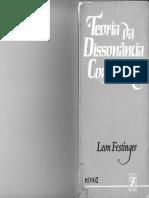 Leon Festinger - Teoria Da Dissonância Cognitiva