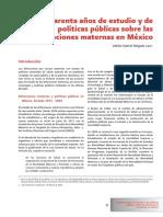 Cuarenta años de estudio y de políticas públicas sobre las defunciones maternas en México