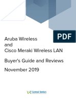 Aruba Wireless vs. Cisco Meraki Wireless LAN Report From IT Central Station 2019-11-04