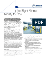 selecting the right fitness