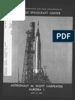 Astronaut M. Scott Carpenter, Aurora 7