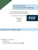 Non-ConcatenativeMorphology