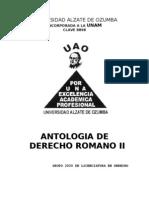 Antologia de Derecho Romano
