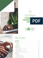 10 METRICS TO TRANSFORM YOUR HR TEAM