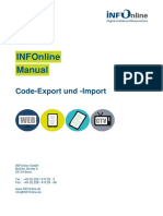 INFOnline Manual Code-Export Und -Import