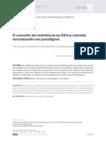O Conceito Da Resistência Na África Colonial